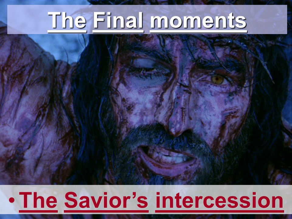 The Savior's intercession