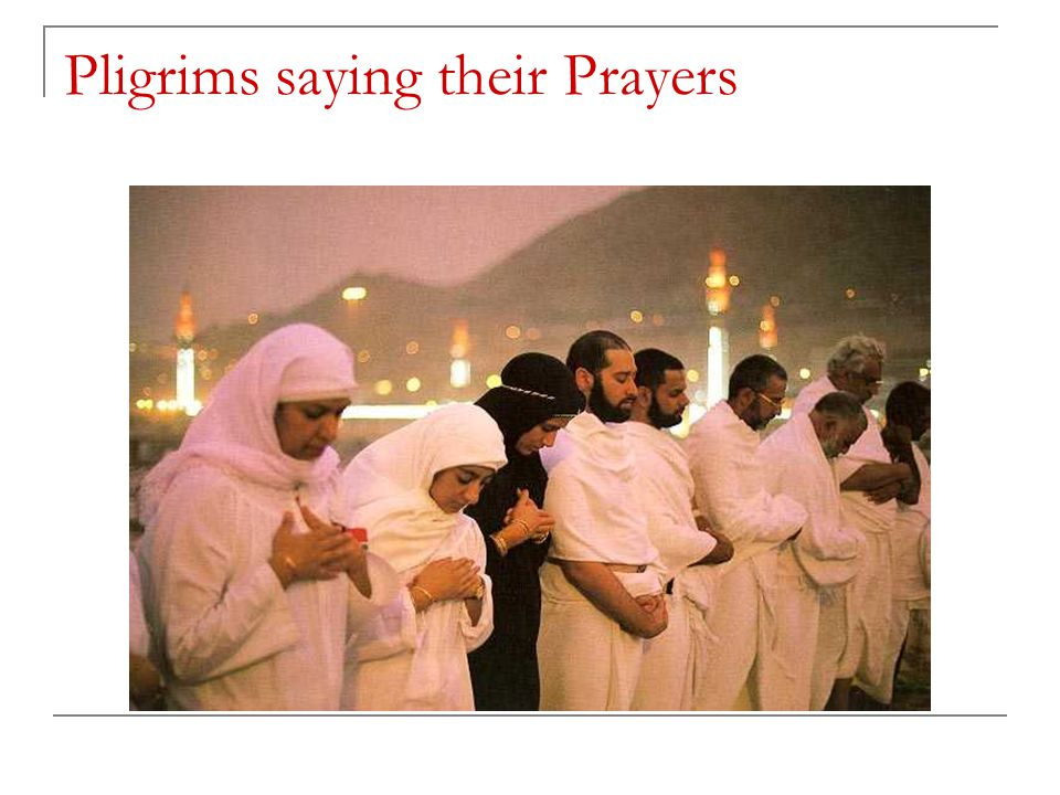 Pligrims saying their Prayers