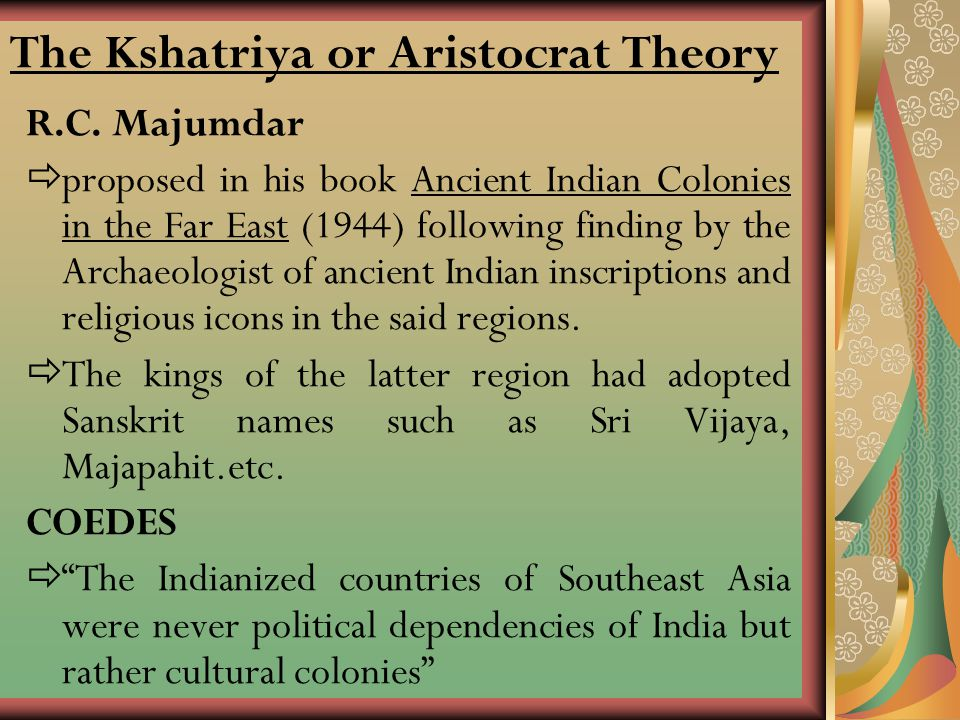 The Kshatriya or Aristocrat Theory
