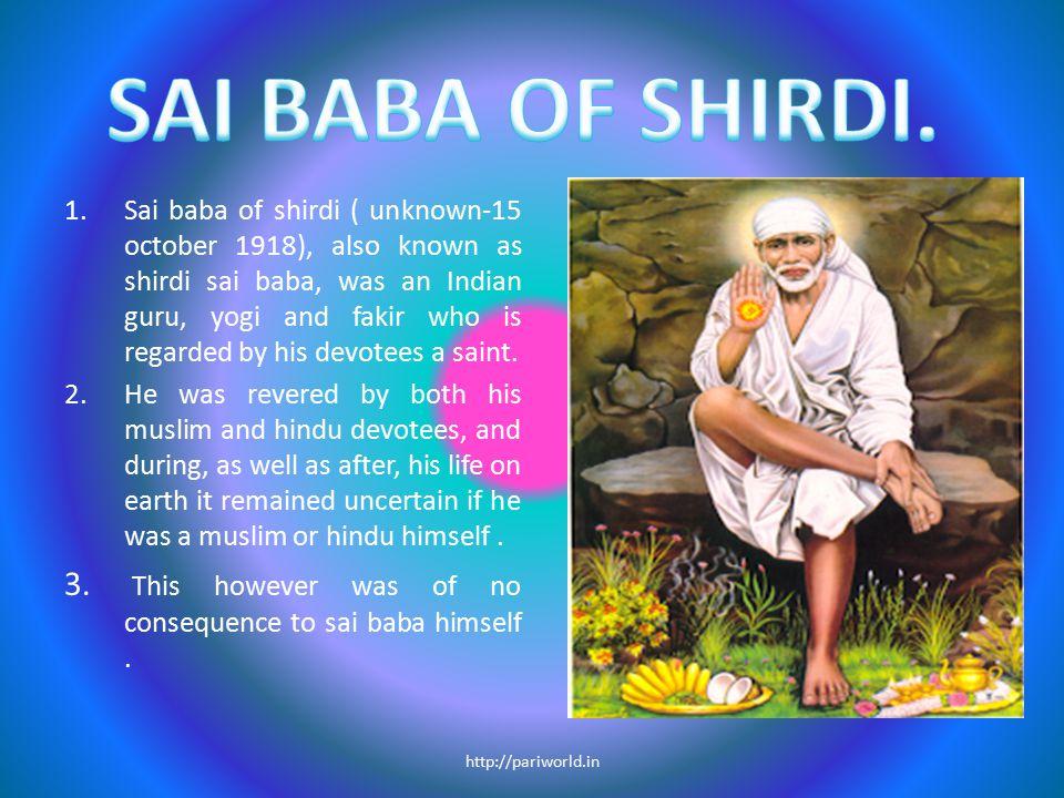 SAI BABA OF SHIRDI.