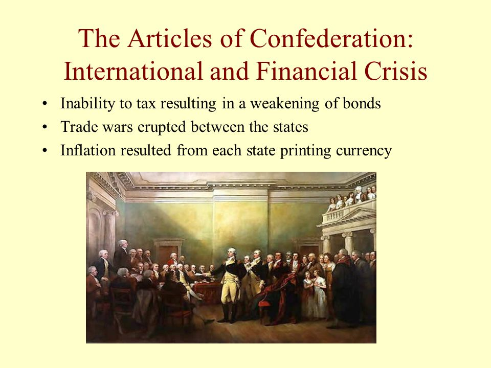 The Articles of Confederation: International and Financial Crisis