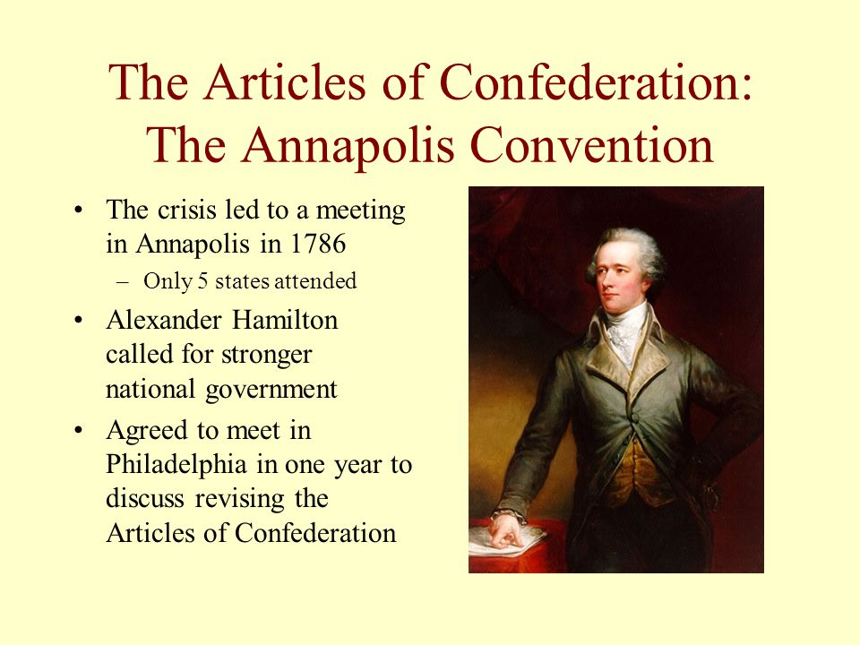The Articles of Confederation: The Annapolis Convention