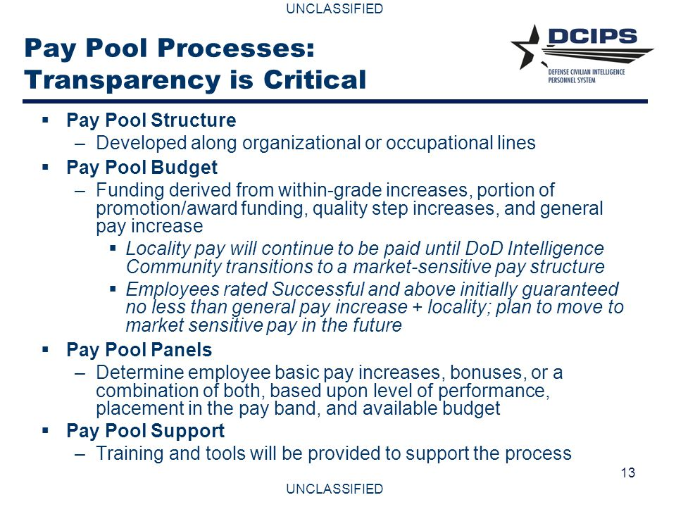 Pay Pool Processes: Transparency is Critical