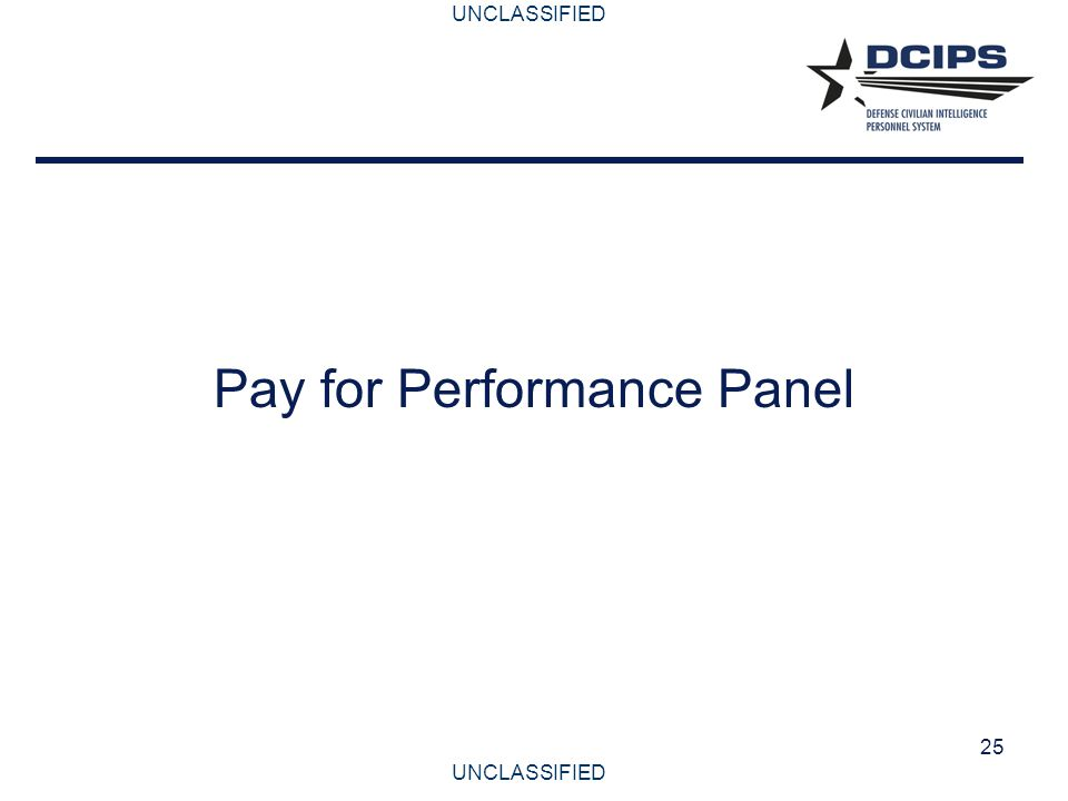 Pay for Performance Panel