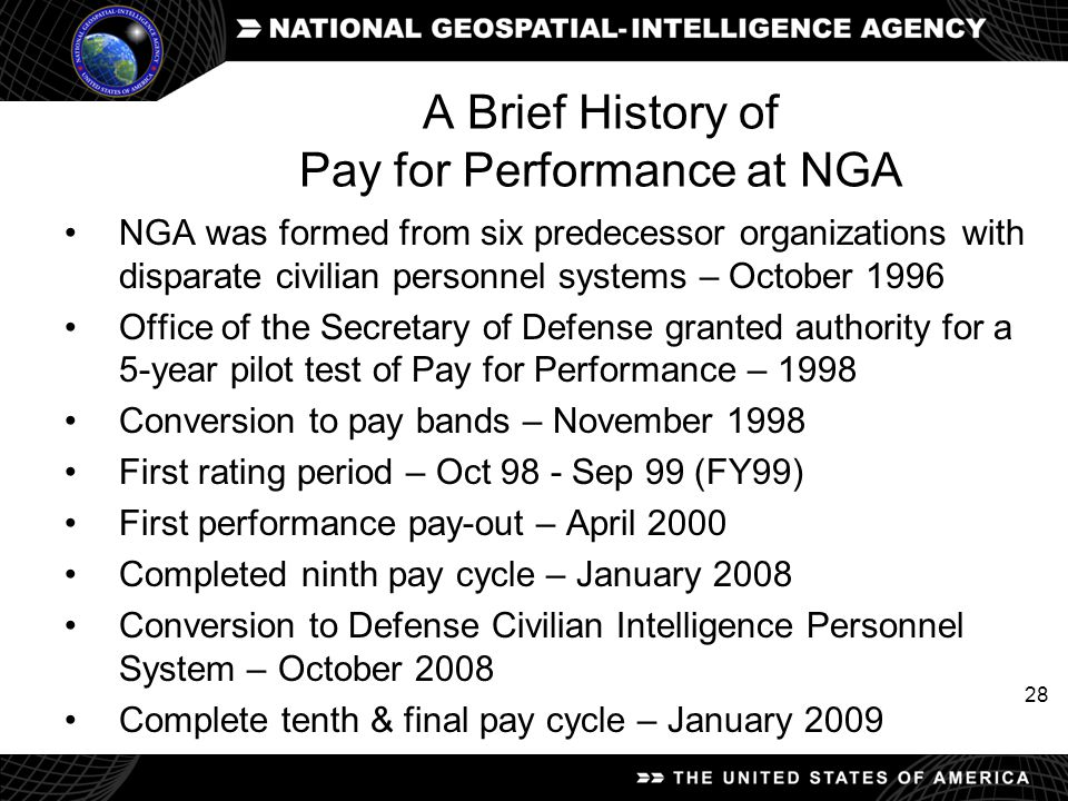 A Brief History of Pay for Performance at NGA