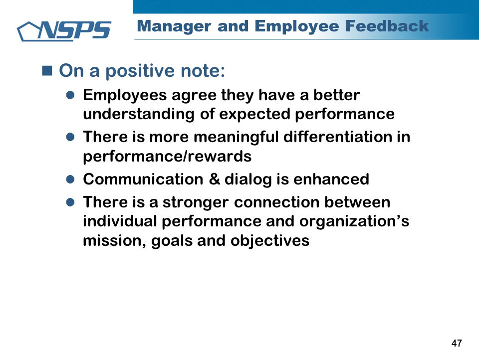 Manager and Employee Feedback