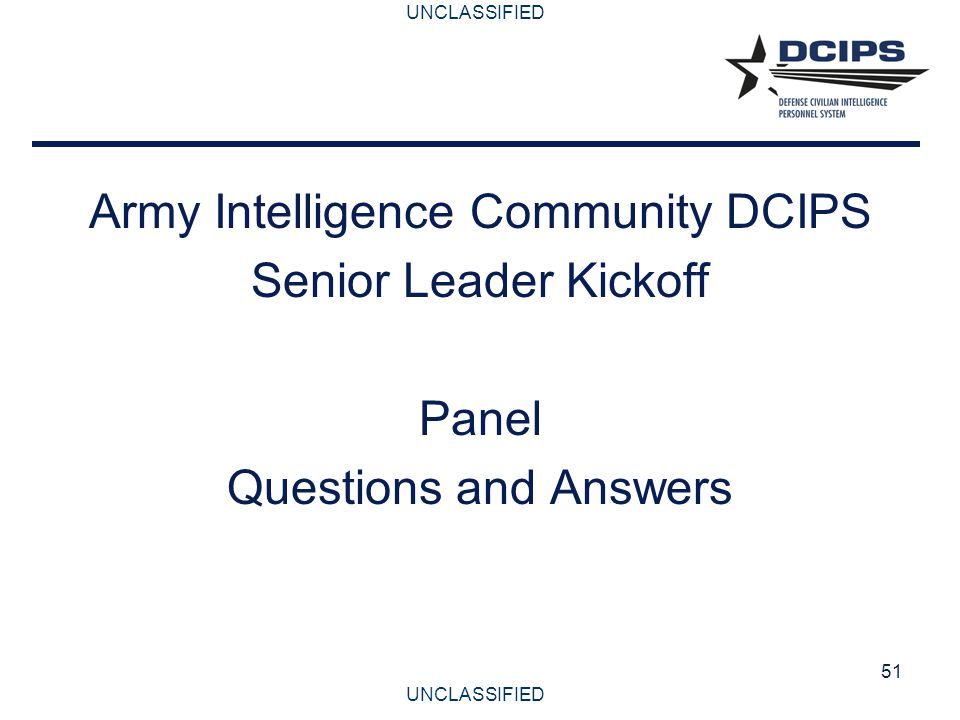Army Intelligence Community DCIPS