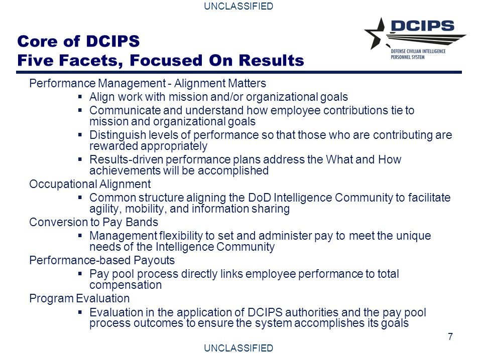 Core of DCIPS Five Facets, Focused On Results