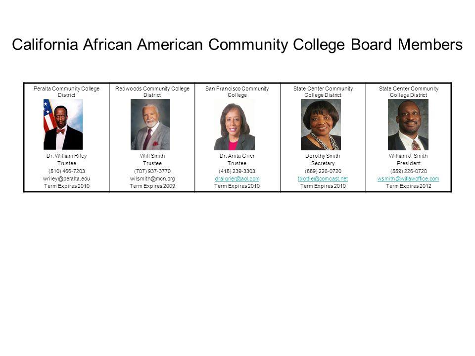 California African American Community College Board Members