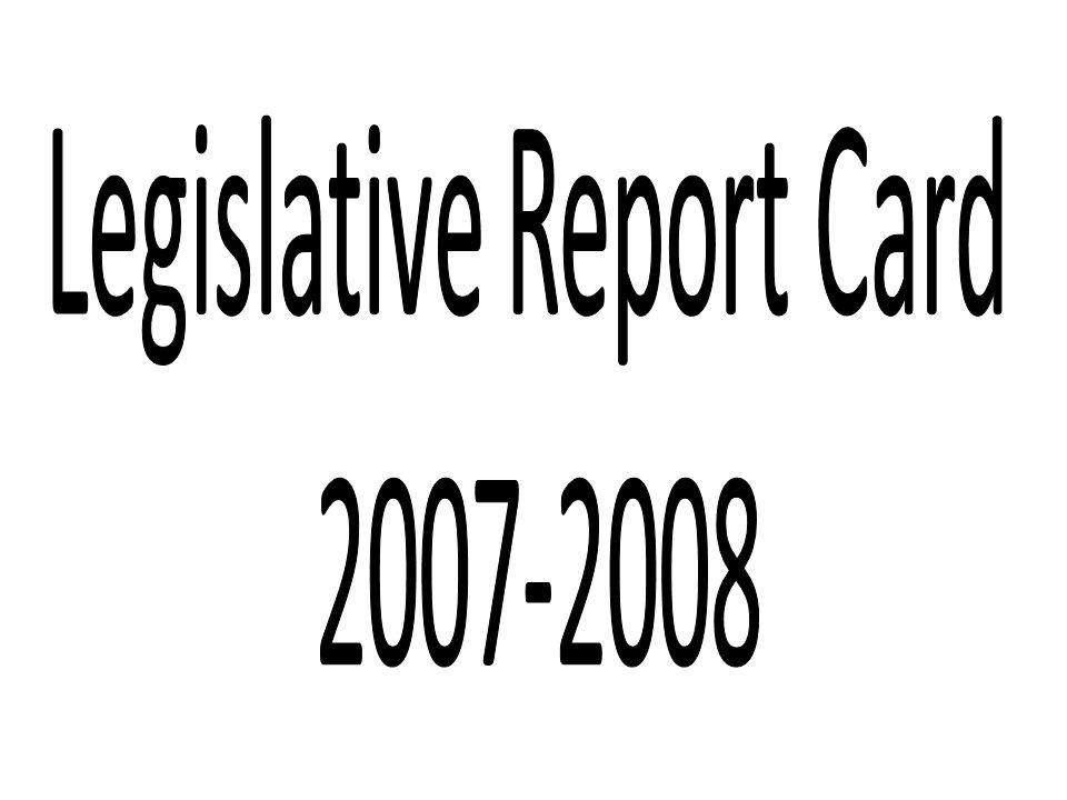 Legislative Report Card