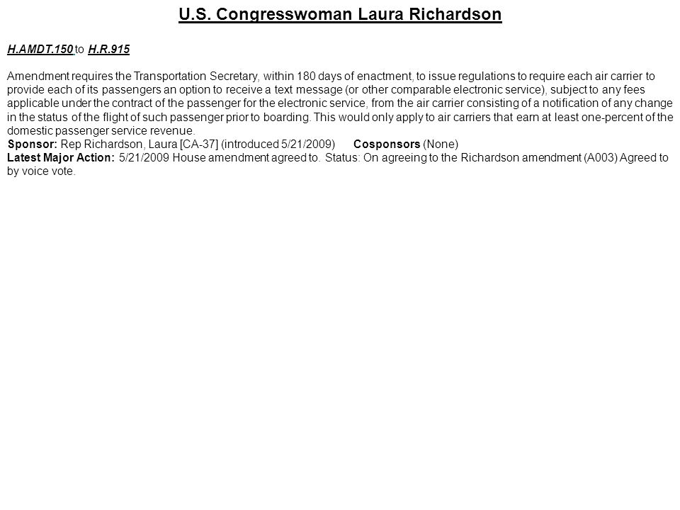 U.S. Congresswoman Laura Richardson