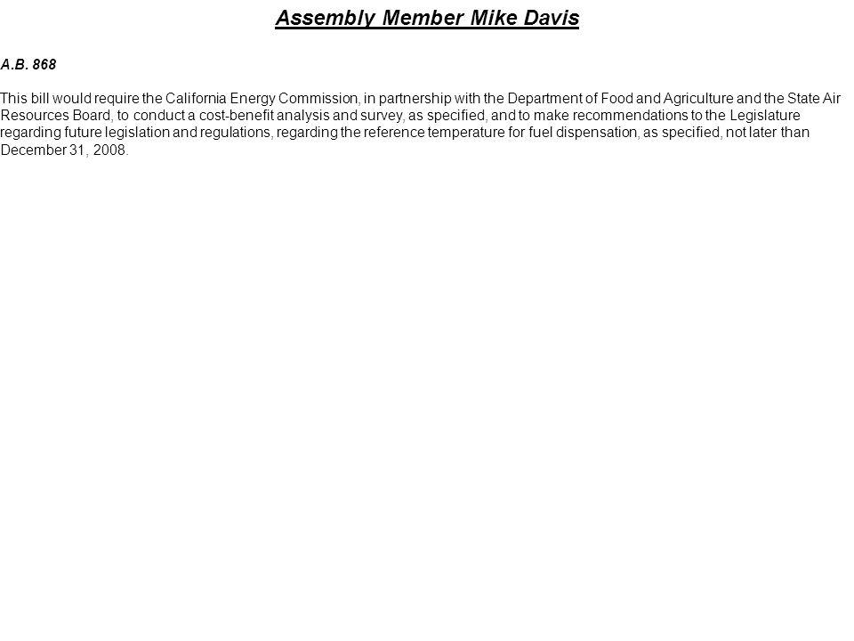 Assembly Member Mike Davis
