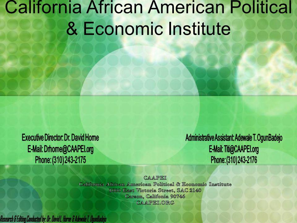 California African American Political & Economic Institute