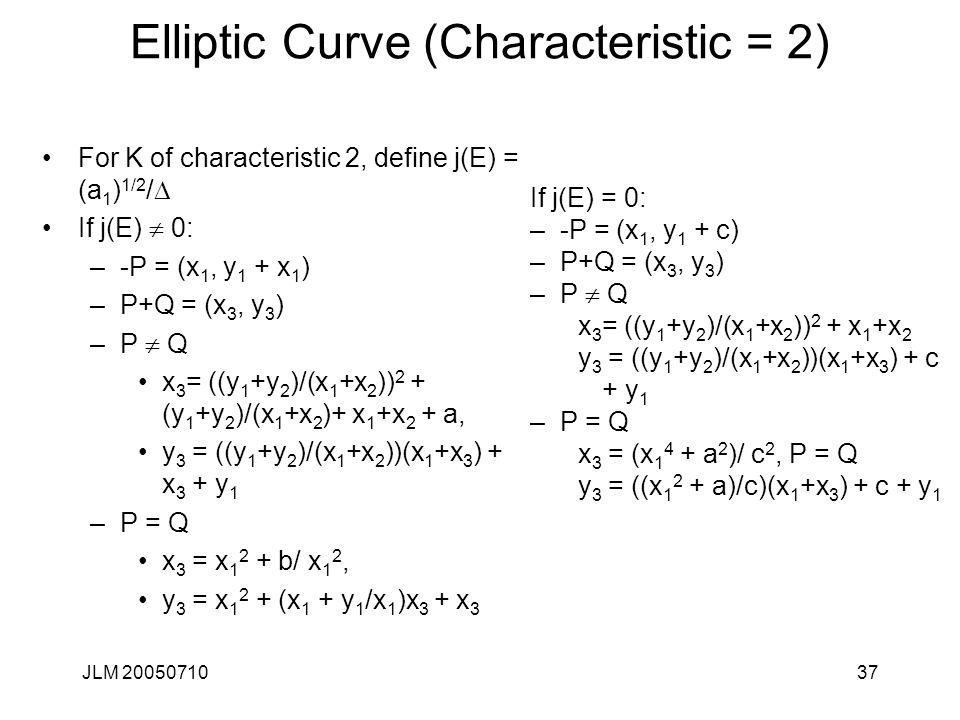 Elliptic Curve (Characteristic = 2)