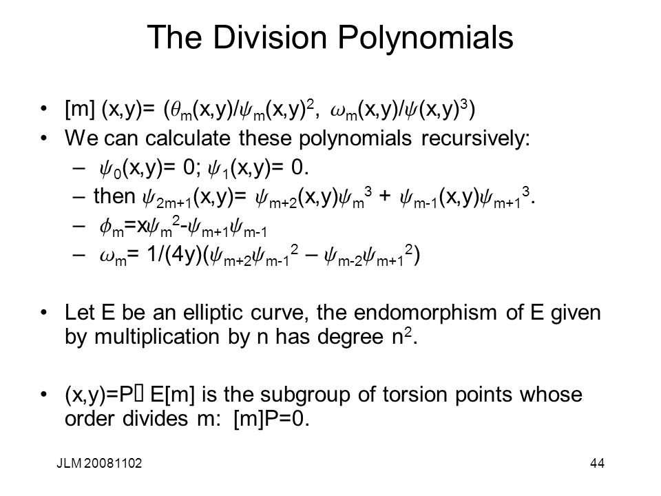 The Division Polynomials