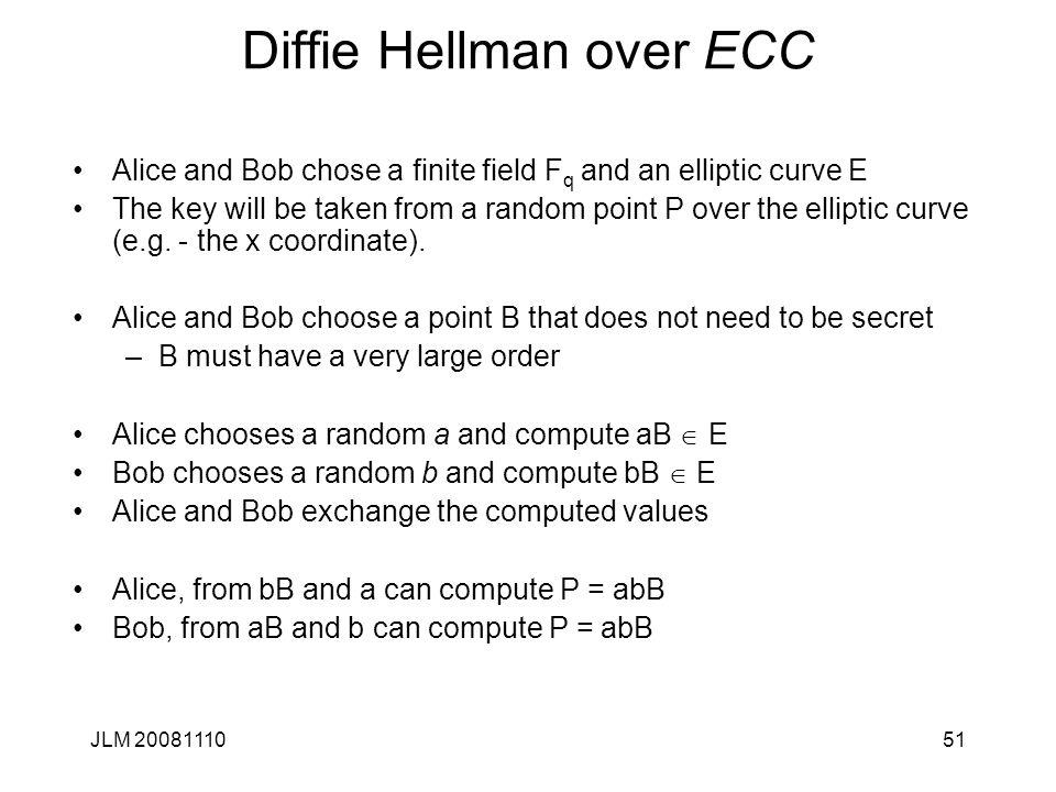 Diffie Hellman over ECC