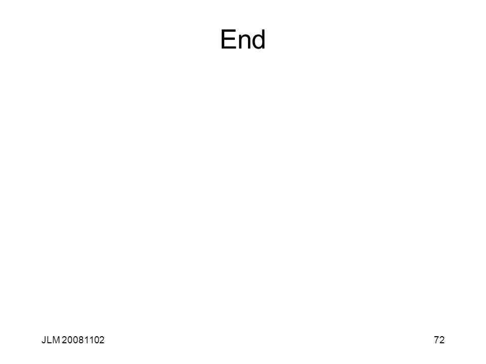 End JLM 20081102