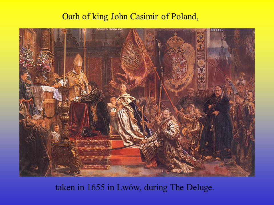 Oath of king John Casimir of Poland,