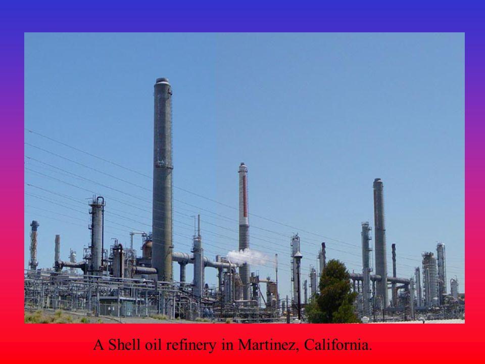 A Shell oil refinery in Martinez, California.