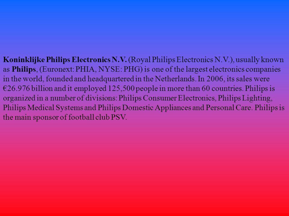 Koninklijke Philips Electronics N. V. (Royal Philips Electronics N. V