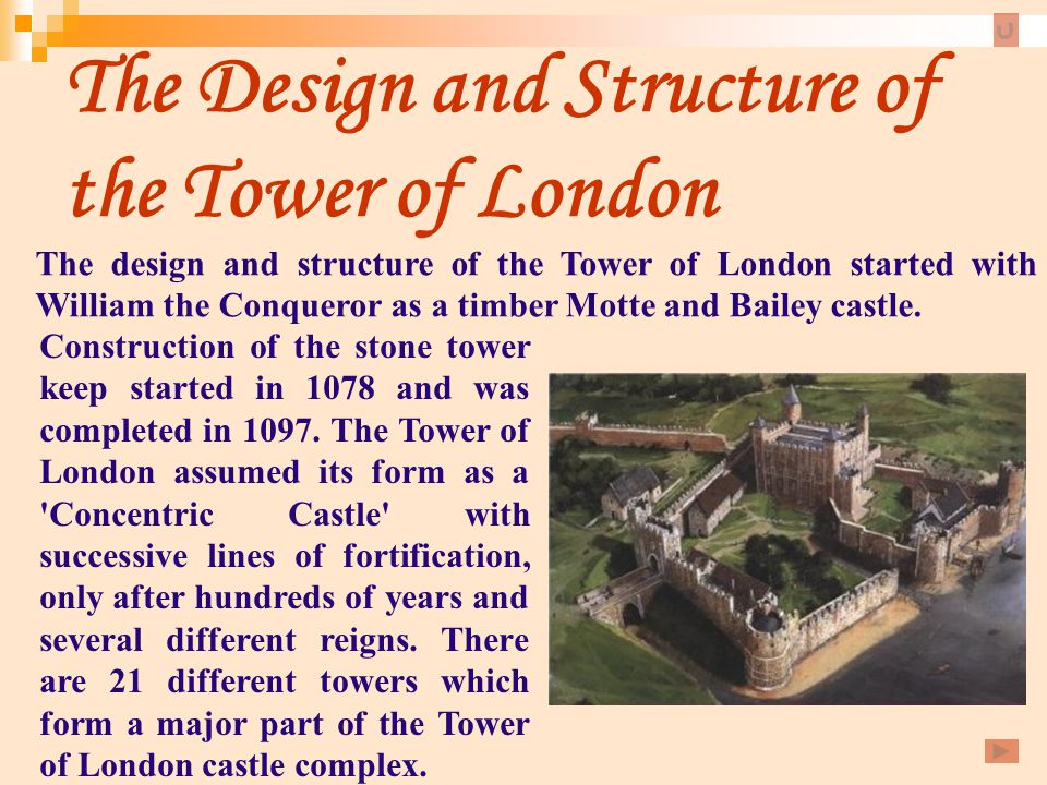 The Design and Structure of the Tower of London