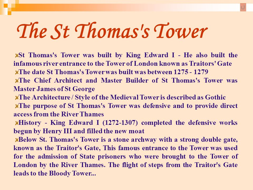 The St Thomas s Tower