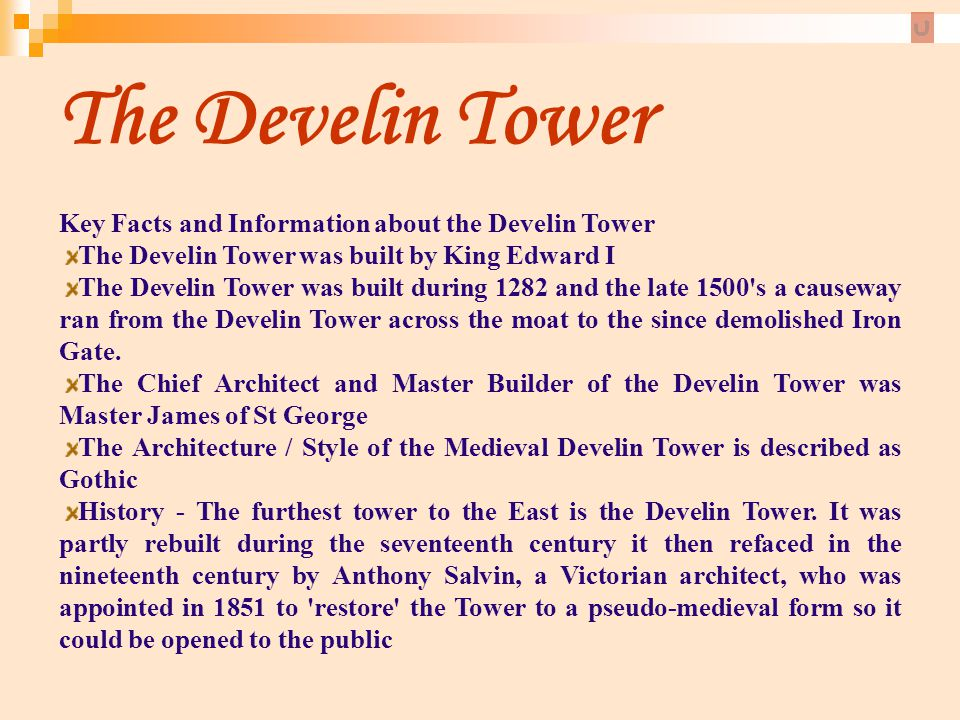 The Develin Tower Key Facts and Information about the Develin Tower