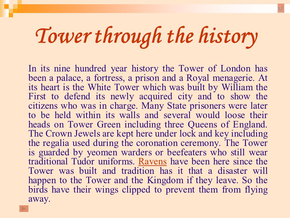 Tower through the history