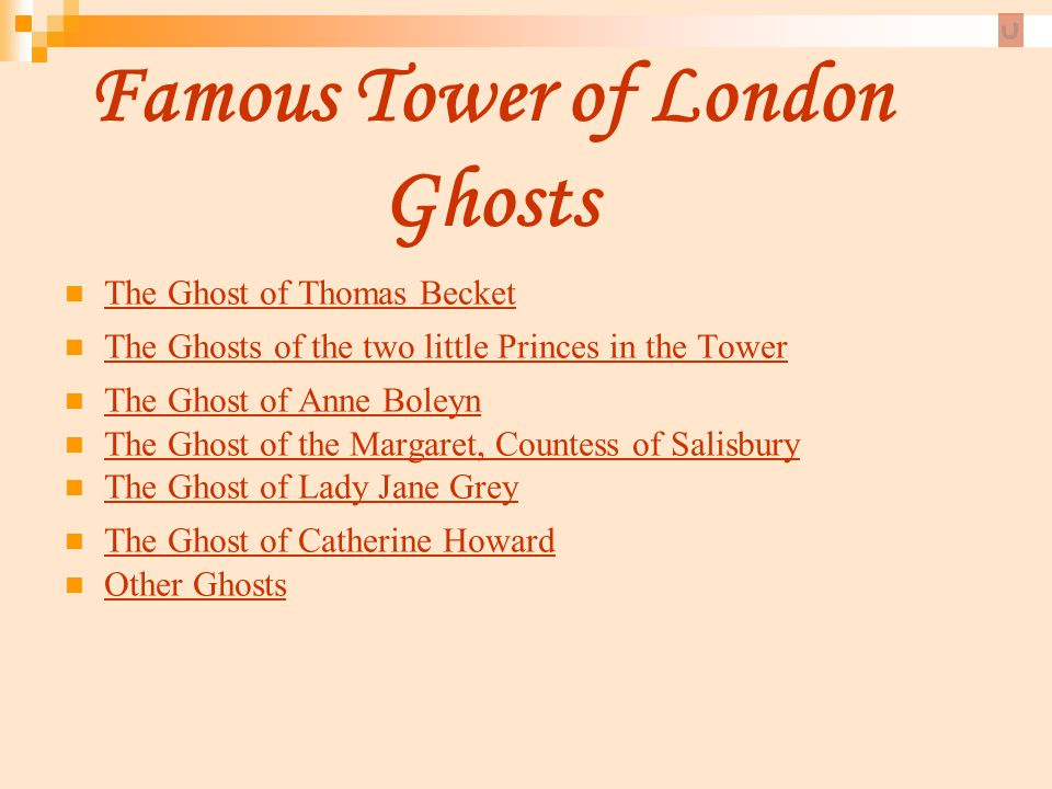 Famous Tower of London Ghosts