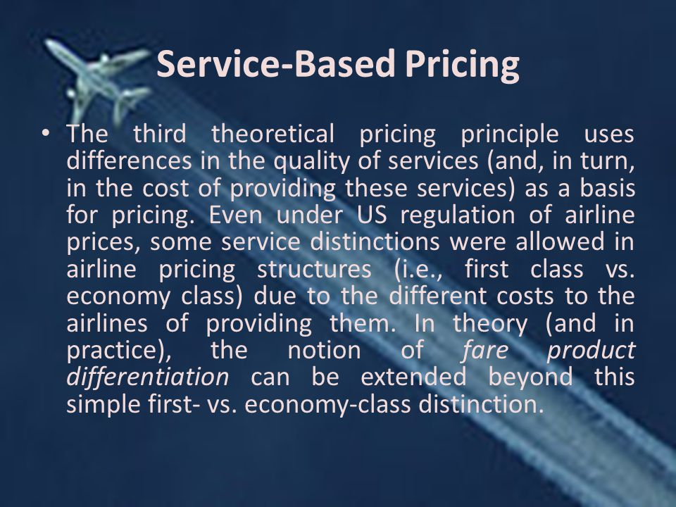 Service-Based Pricing