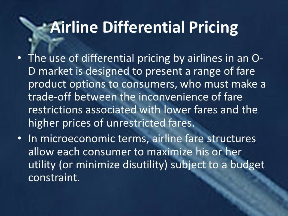 Airline Differential Pricing