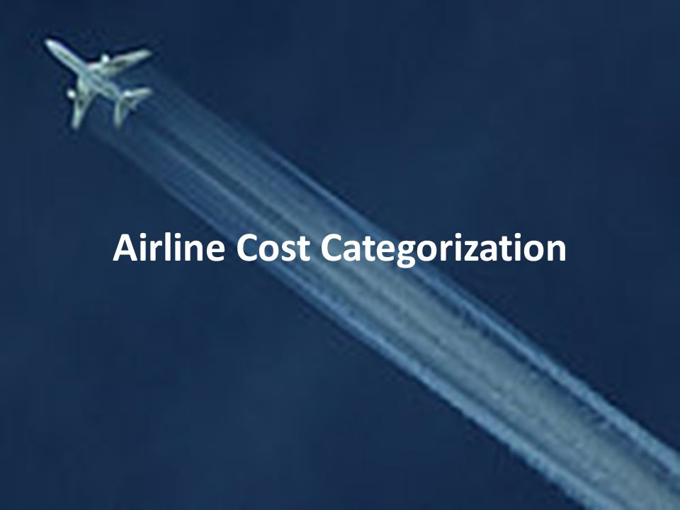 Airline Cost Categorization