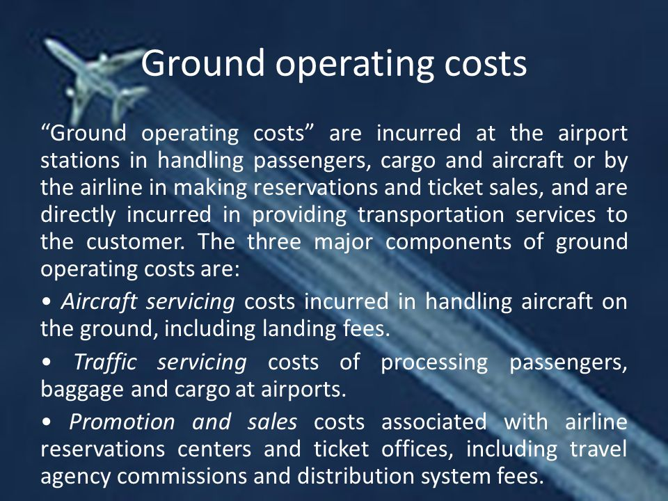 Ground operating costs