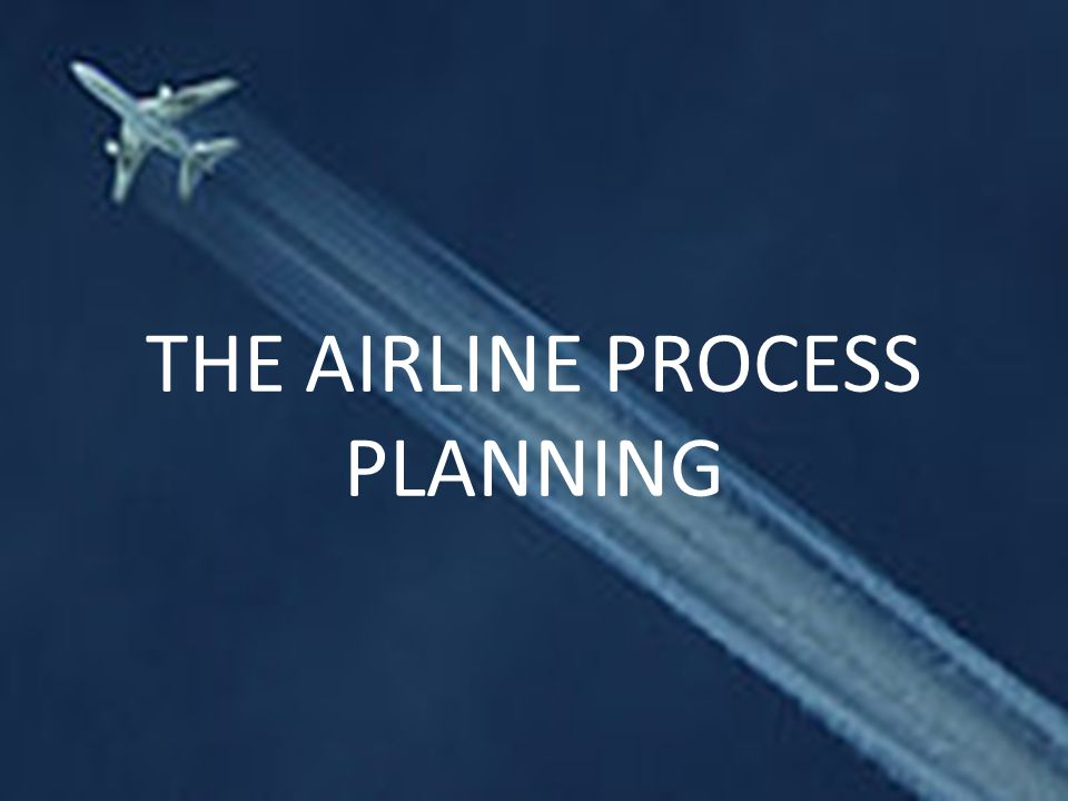 THE AIRLINE PROCESS PLANNING