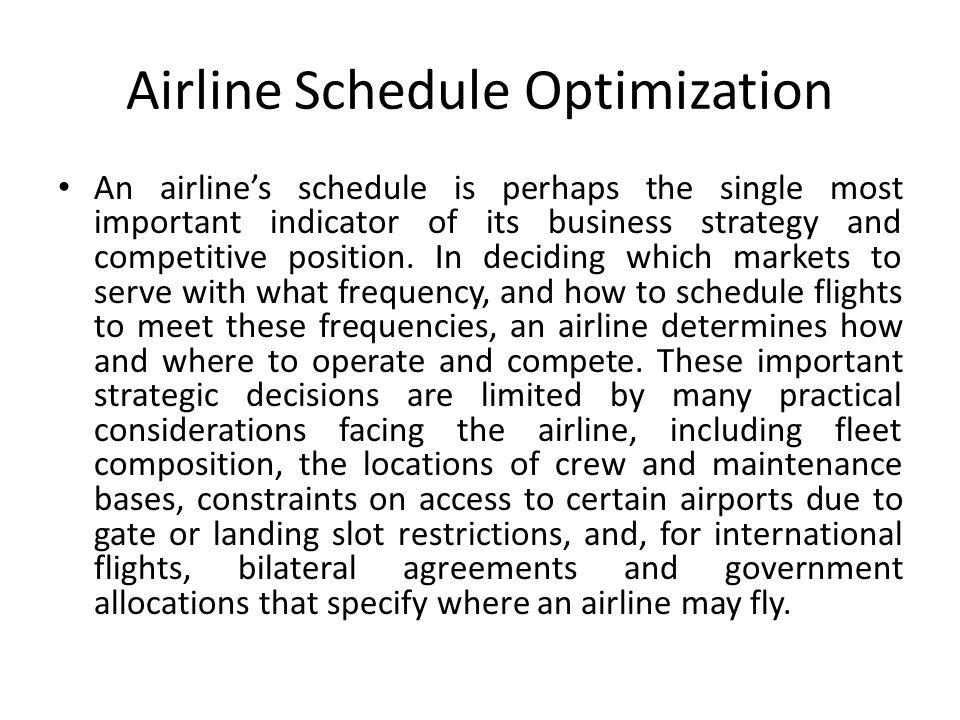 Airline Schedule Optimization