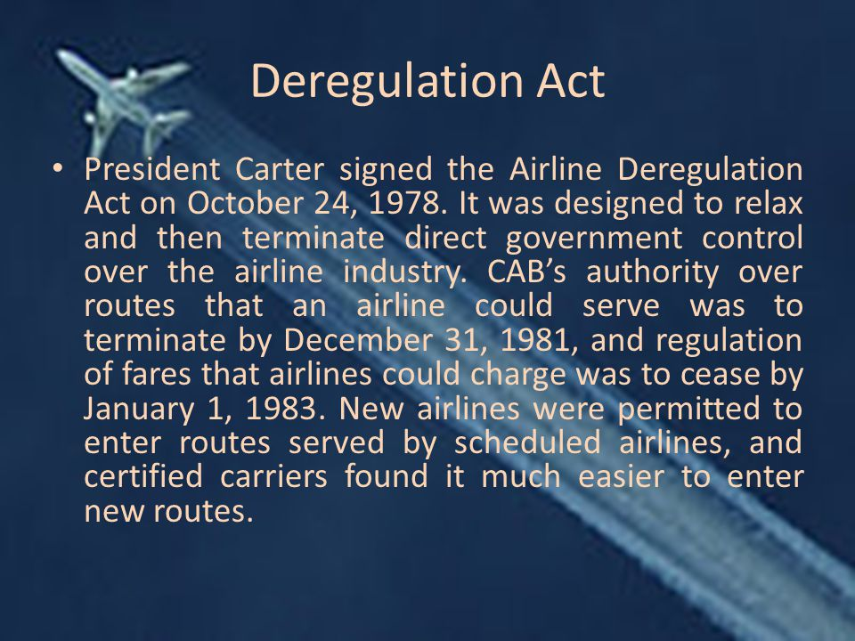Deregulation Act