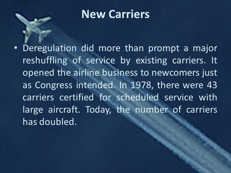New Carriers