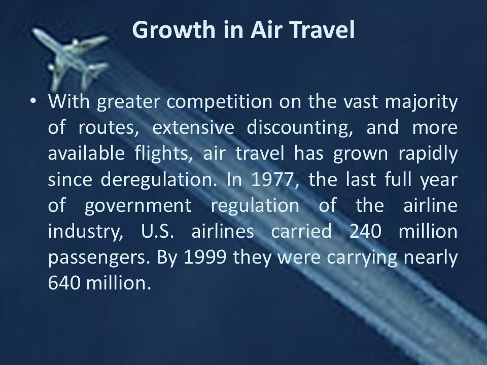 Growth in Air Travel