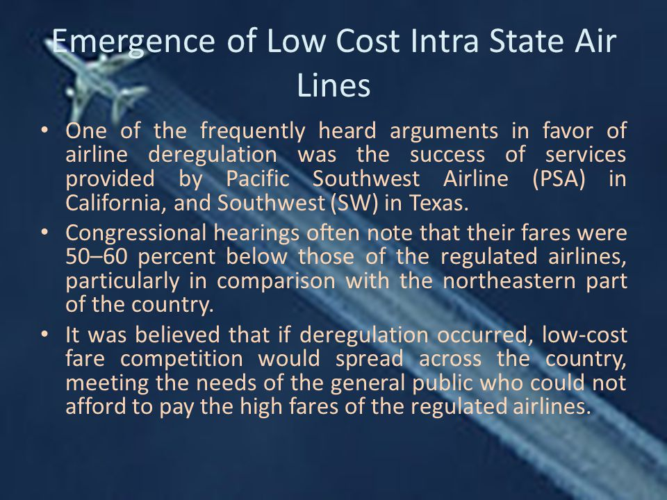 Emergence of Low Cost Intra State Air Lines