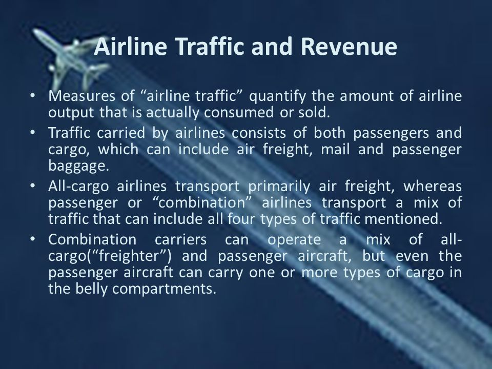 Airline Traffic and Revenue