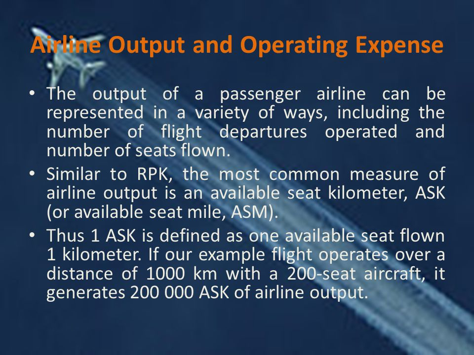 Airline Output and Operating Expense