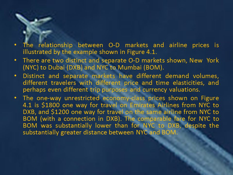 The relationship between O-D markets and airline prices is illustrated by the example shown in Figure 4.1.