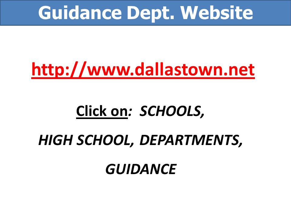 HIGH SCHOOL, DEPARTMENTS,
