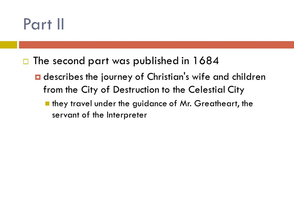 Part II The second part was published in 1684