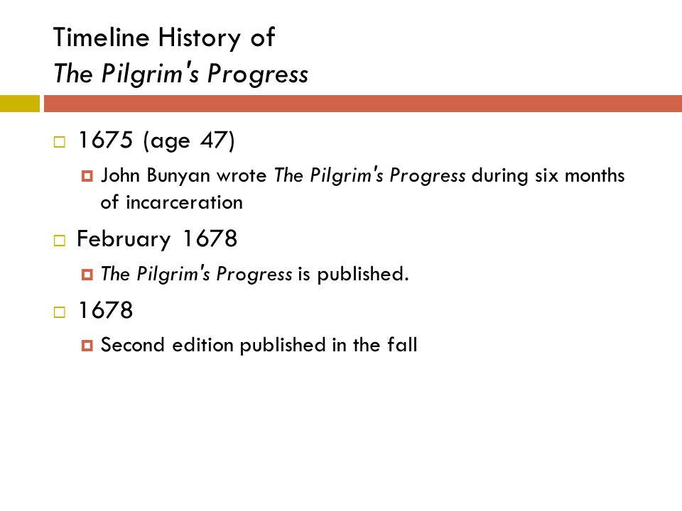 Timeline History of The Pilgrim s Progress