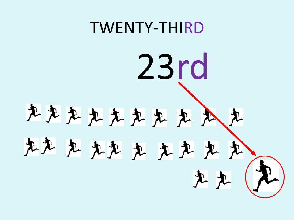 TWENTY-THIRD 23rd