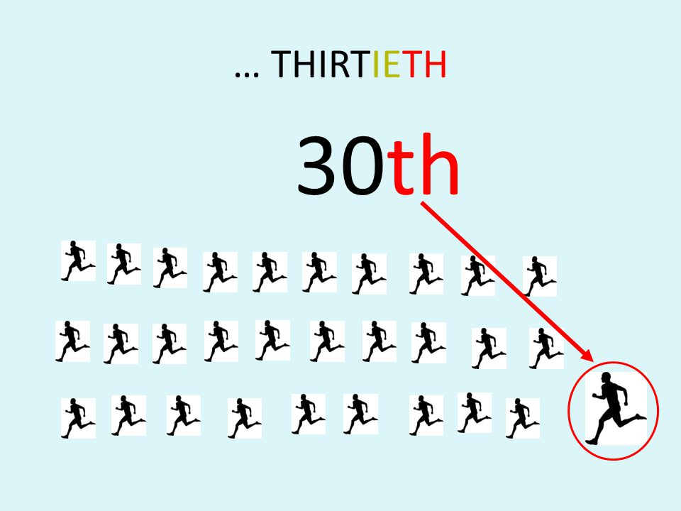 … THIRTIETH 30th
