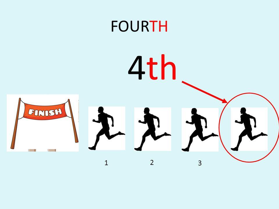 FOURTH 4th 1 2 3