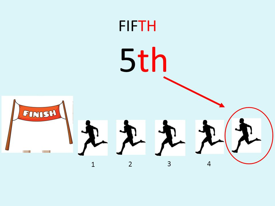 FIFTH 5th 1 2 3 4