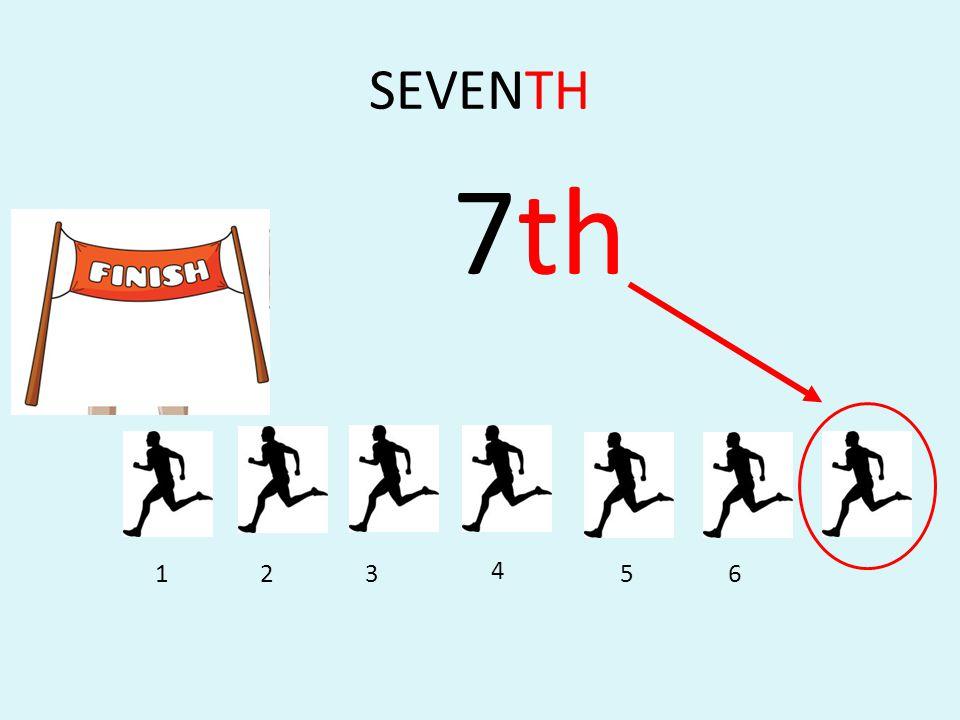 SEVENTH 7th 1 2 3 4 5 6